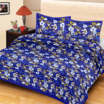 Priyam - Cotton Printed Double Bedsheet With Pillow Cover-Z21JPAD627EBD