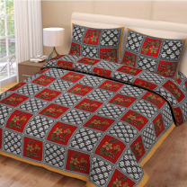 Priyam - Cotton Printed Double Bedsheet With Pillow Cover-Z21JP79A5C3E2
