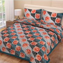 Priyam - Cotton Printed Double Bedsheet With Pillow Cover-Z21JPC4F52F41