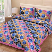 Priyam - Cotton Printed Double Bedsheet With Pillow Cover-Z21JPEA64307B