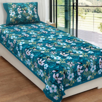 Priyam - Cotton Printed Single Bedsheet With Pillow Cover-Z21JPFB34A41A