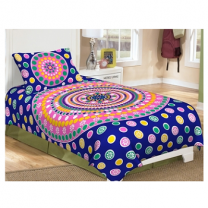 Priyam - Cotton Printed Single Bedsheet With Pillow Cover-Z21JPB414A9AF