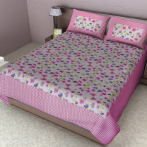 Naomi - Cotton Printed Double Bedsheet With Pillow Cover-Z54JPB4A5D2A8