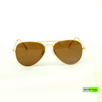 Sunshade Eyewear M03 For Men, Gold & Brown