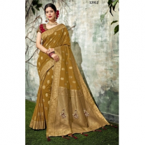 Weaved Silk Zari And Cord Embroidery Saree With Blouse-017STBCA1FECC