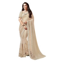 Lycra And Net Brocade Saree With Blouse-017ST55FBC5C1