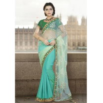 Net Silk Saree With Blouse-017STCA694CDE