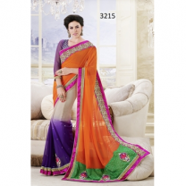 Faux Georgette  Saree With Blouse-017ST43AF87AC