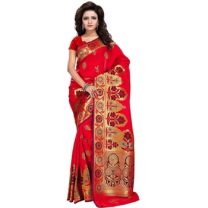 Art Silk Banarasi Saree with Blouse-114STD5CFB9E7