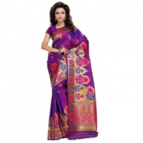 Art Silk Banarasi Saree with Blouse-114ST1B3576F4