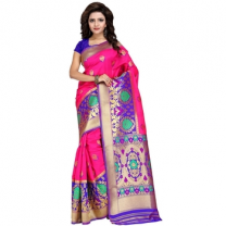 Art Silk Banarasi Saree with Blouse-114ST32A09E19