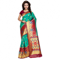 Art Silk Banarasi Saree with Blouse-114ST302A1305