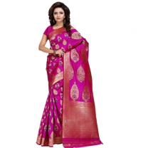 Art Silk Banarasi Saree with Blouse-114ST4704FEC0