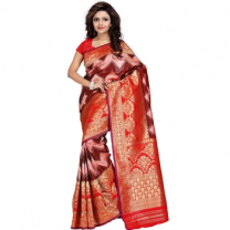 Art Silk Banarasi Saree with Blouse-114ST1AB4AC21