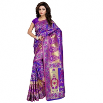 Art Silk Patola Saree with Blouse-114ST6E23EFF7