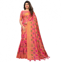 Greeny - Jacquard Cotton Woven Saree With Blouse-210STD98CEEC3