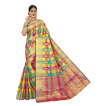 Rinki - Cotton Silk Banarasi Saree With Blouse-114ST1CBD4114