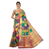 Rinki - Cotton Silk Banarasi Saree With Blouse-114ST1CD1A8C5
