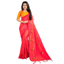 Greeny - Silk Embroidery Saree With Blouse-210ST8E0661A0