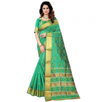 Greeny - Silk Banarasi Saree With Blouse-210STCF5368A8