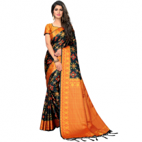 Greeny - Silk Printed Saree With Blouse-210STB92F242C