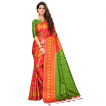 Greeny - Silk Printed Saree With Blouse-210STA1B6D51F