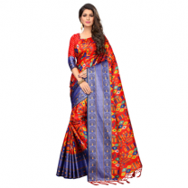 Greeny - Silk Printed Saree With Blouse-210ST0A9933C4