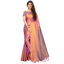 Greeny - Silk Printed Saree With Blouse-210ST18993D2E