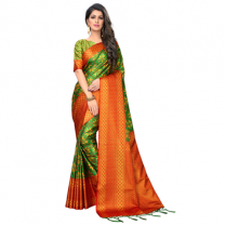 Greeny - Silk Printed Saree With Blouse-210ST62237047