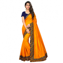 Greeny - Silk Embroidery Saree With Blouse-210ST0BA22291