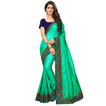 Greeny - Silk Embroidery Saree With Blouse-210STCBA844E8