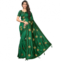 Greeny - Silk Embroidery Saree With Blouse-210ST39D82A5A