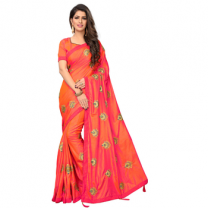 Greeny - Silk Embroidery Saree With Blouse-210STEE3C1052