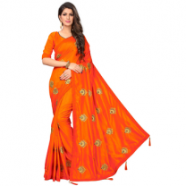 Greeny - Silk Embroidery Saree With Blouse-210STE8520F92