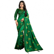 Greeny - Silk Embroidery Saree With Blouse-210ST99194B13