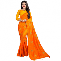 Greeny - Silk Embroidery Saree With Blouse-210ST2E4A19CA