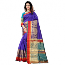 Greeny - Silk Banarasi Saree With Blouse-210STEFB8AE5C