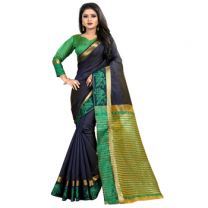 Greeny - Jacquard Silk Woven Saree With Blouse-210ST350168B3