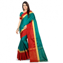 Greeny - Cotton Silk Woven Saree With Blouse-210ST86903F2E