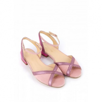 Mellow Yellow Flat Sandals Berlingo Pink