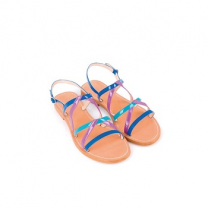 Mellow Yellow Flat Sandals Balentine Blue