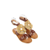 Mellow Yellow Flat Sandals Divadia Gold