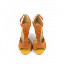 Mellow Yellow Heel Sandals Brady Camel