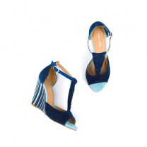 Mellow Yellow Heel Sandals Brady Navy
