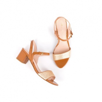 Mellow Yellow Heel Sandals Badami Camel