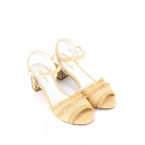 Mellow Yellow Heel Sandals Bahina Beige
