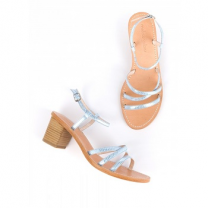 Mellow Yellow Heel Sandals Balouna Blue