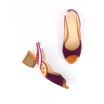 Mellow Yellow Heel Sandals Befruita Purple