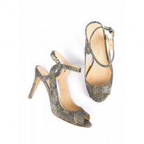 Mellow Yellow Heel Sandals Bellissima Black