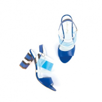 Mellow Yellow Heel Sandals Bonzai Blue